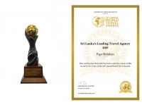 sri lanka's leading travel agency for 2019 by the world travel awards