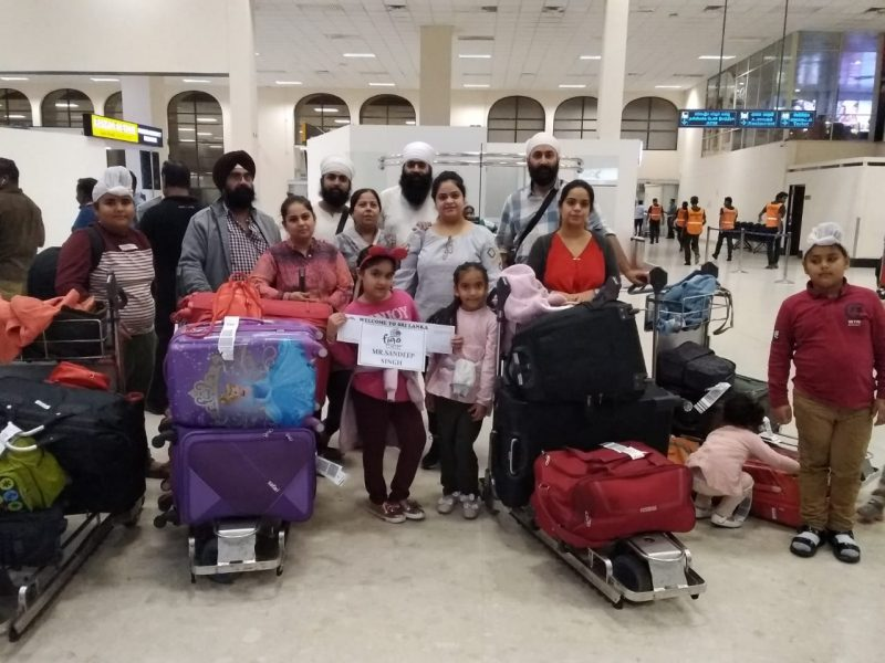 indian travellers arriving in Sri Lanka by Figo Holidays concierge